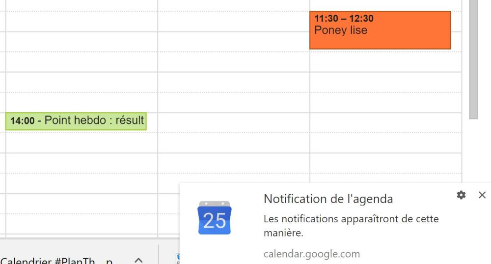 Réduire les notifications - Google Agenda