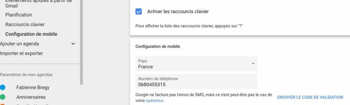Google Agenda : Configuration sur mobile