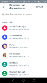 Messagerie instantanée : Discussion en groupe