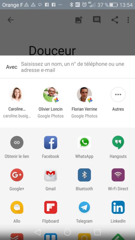 Google Photos : Je sélectionne les personnes