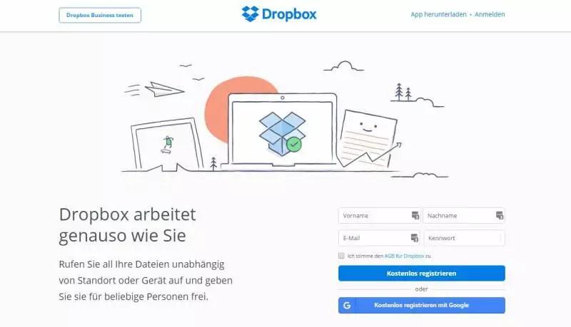 Dropbox-Startseite: Was passiert mit digitalem Nachlass in der Dropbox?
