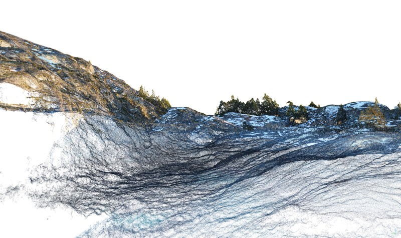 Digital Pointillism | Areal Photography to high res Point Cloud | Pilotstudy Festvåg - Capturing Environment via UAV | Marc Ihle in Cooperation with GRID-IT Innsbruck | 2018