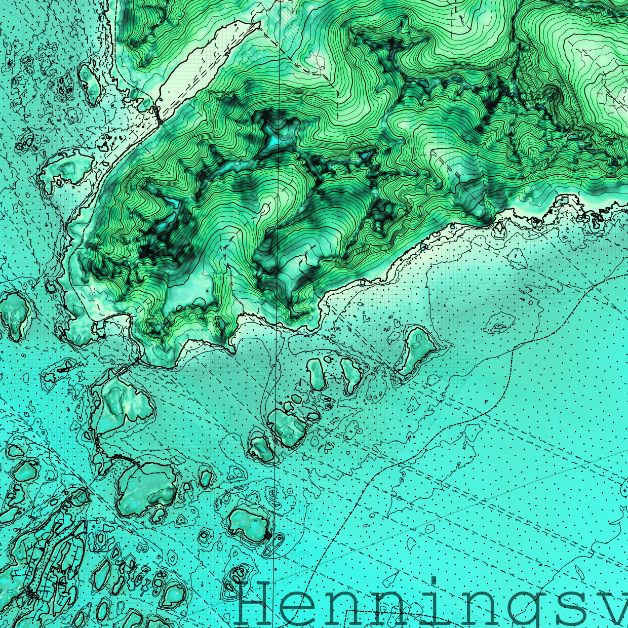 Cartography Lofoten | Area 60x40 km | Adding Terrain Attributes | Data: Kartverket.no | Editing and Mapping: Marc Ihle