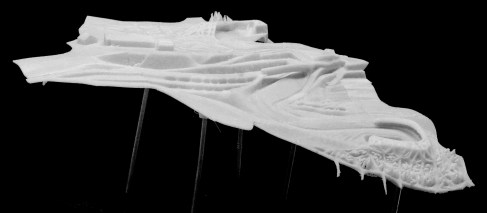 Model | 3d-printed Landscape | Master Design Course - Alpine Studio | 2015