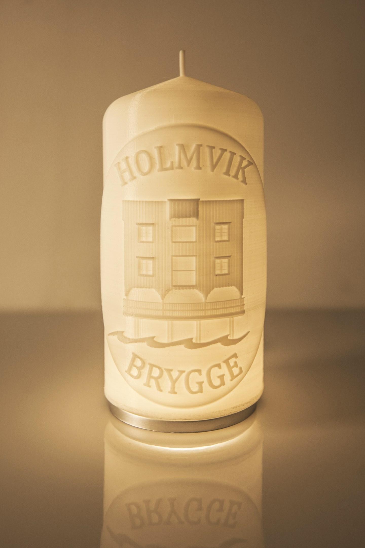 Holmvik Candle | 3d Print | Design for Holmvik Brygge Nyksund | 2016 | Marc Ihle