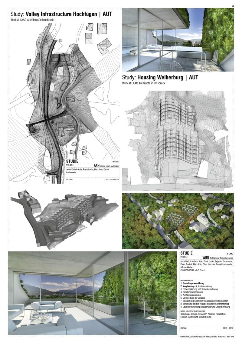 Study Work at LAAC Architekten Innsbruck, Austria | 2009 - 2015