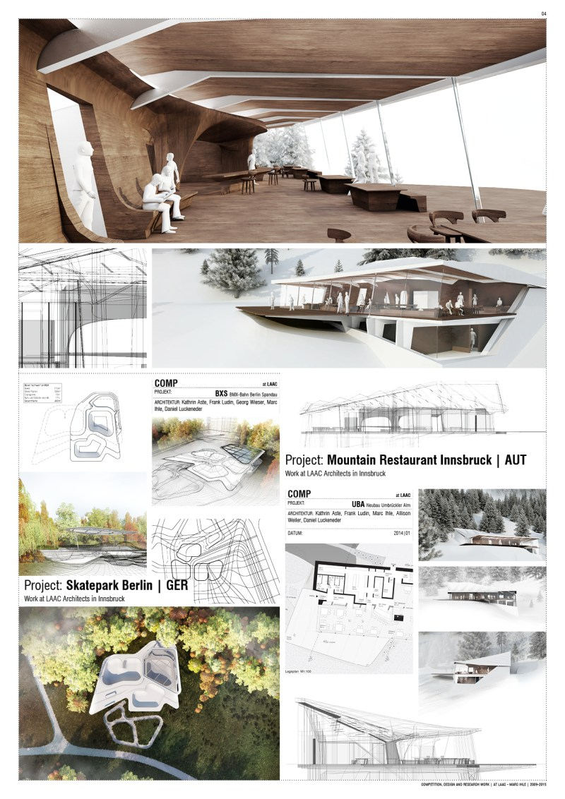 Competition Team-Work at LAAC Architekten Innsbruck, Austria | 2009 - 2015