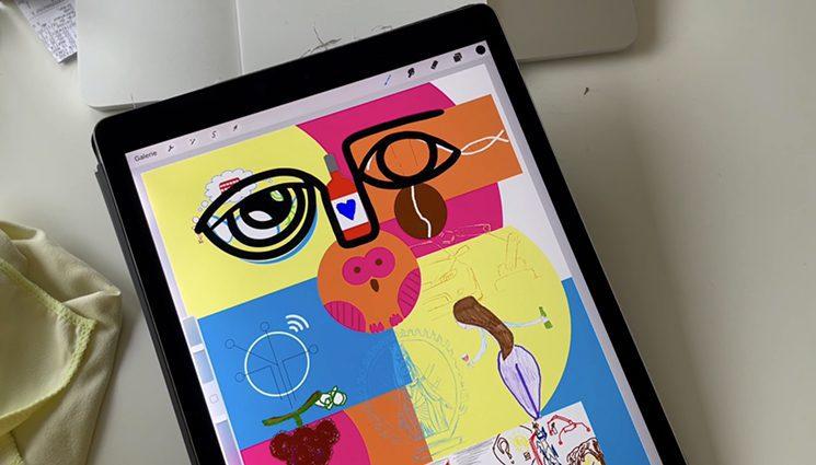 Digital corporate gift by aNa artist and Digital Mural numeric artwork