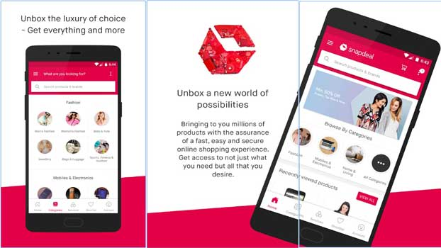 a8d3b400e25 Snapdeal represents an online shopping app which you can use for buying  men s clothing