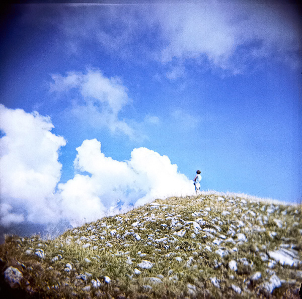Woman In Alps Holga-1