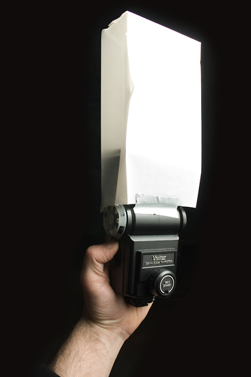 DIY Flash Diffuser – Airline Barf Bags