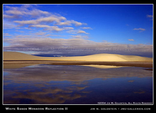 White Sands Monsoon Reflections II photo by Jim M. Goldstein