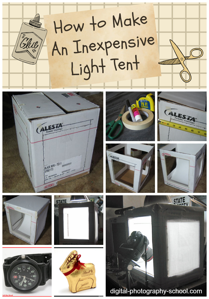 how to make an inexpensive light tent diy. Black Bedroom Furniture Sets. Home Design Ideas