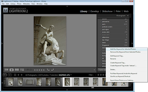 Keywords Lightroom 2