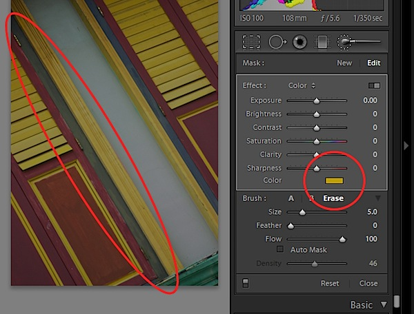 More on the Adjustment Brush in Lightroom