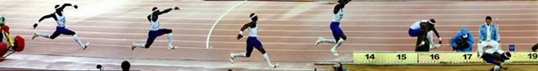 Beijing Olympics: Men's Triple Jump Panorama of Idowu Phillips