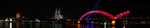 Panorama of the riverside in Cologne