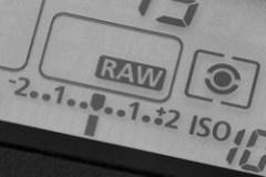 Exposure meter display on LCD