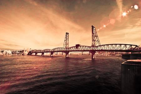 Steel Bridge Portland Infrared by Lenny Breedbate