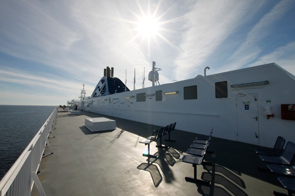Sun and a BC Ferry