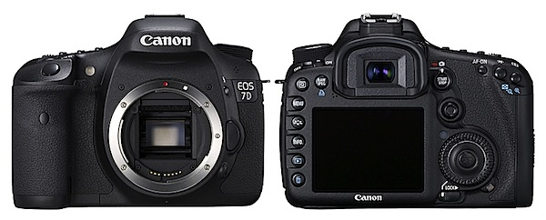 Front and back views of the Canon EOS 7D