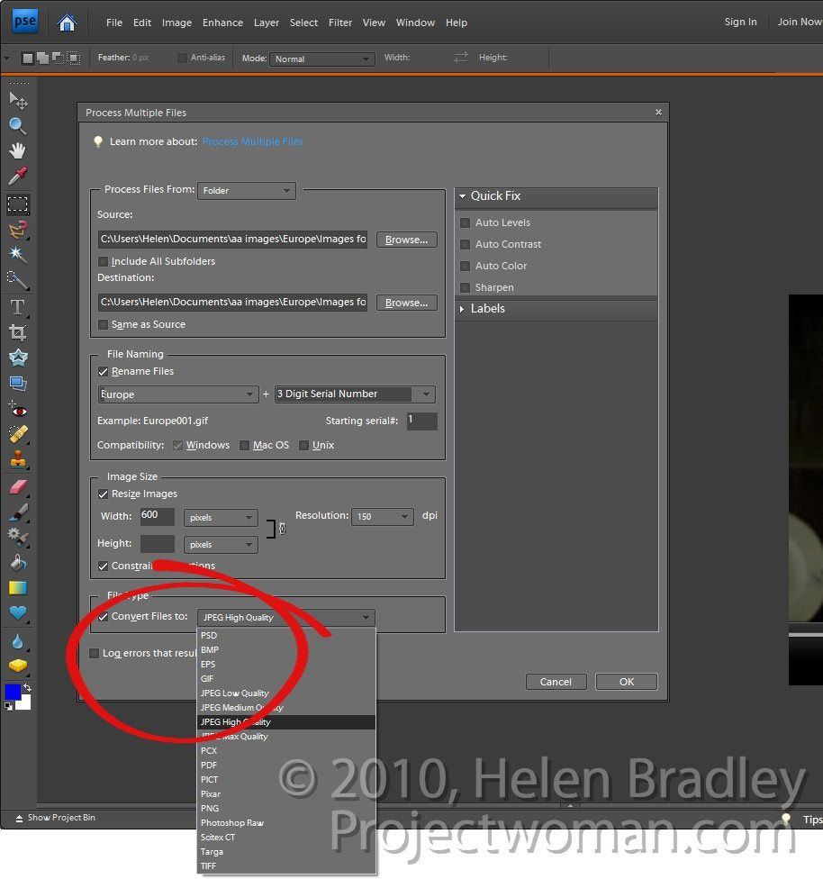 Batch processing in photoshop elements batch resising photoshop elements step4g baditri Images