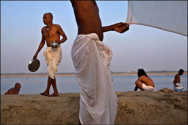 Image: P I L G R I M S. Varanasi - by Claude Renault