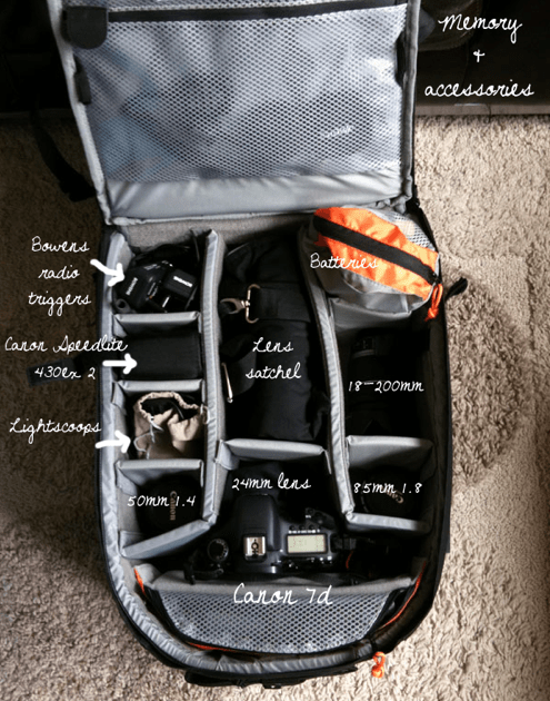Packing your Bags for a Photo Shoot