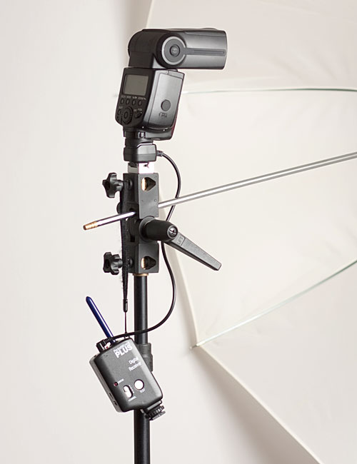 Image: Fully assembled flash-on-a-stand: 42\