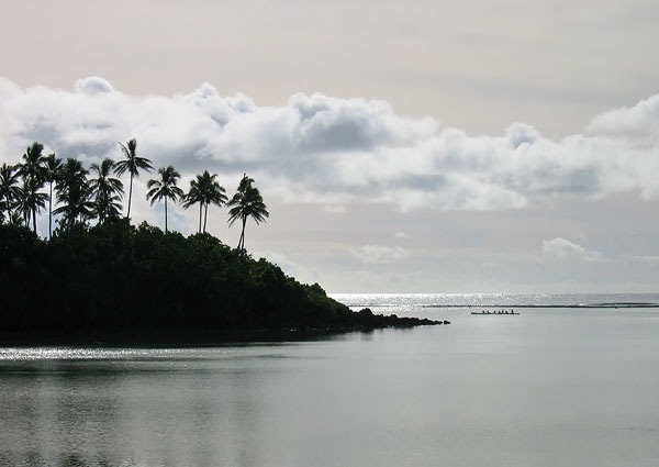 Image: Lagoon at twilight, Raratonga, Cook Islands. Canon Ixus 400.