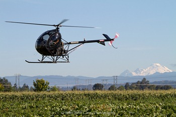 Helicpter and Mt. Baker