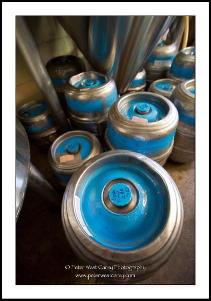 Image: Kegs Awaiting Beer At Boundary Bay Brewery - Bellingham, Washington, USA