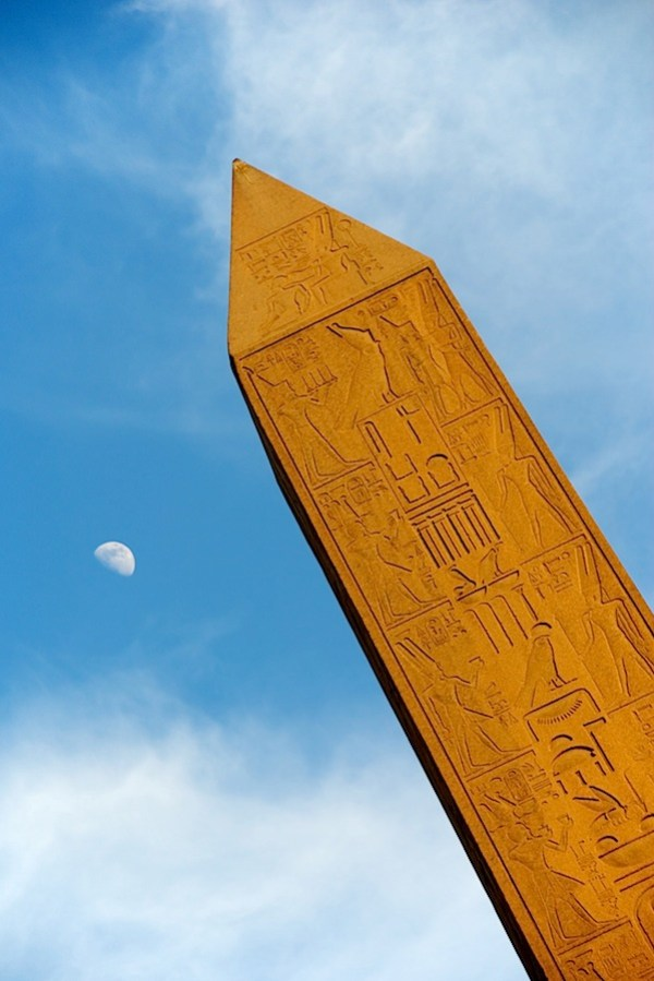 Icons - Obelisk and Moon at Karnak - Luxor, Egypt - Copyright 2010 Ralph Velasco.jpg