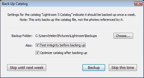 how to change location of lightroom catalogue file