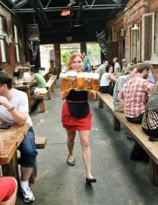 Image: Waitress at Radegast Hall, Brooklyn, NY