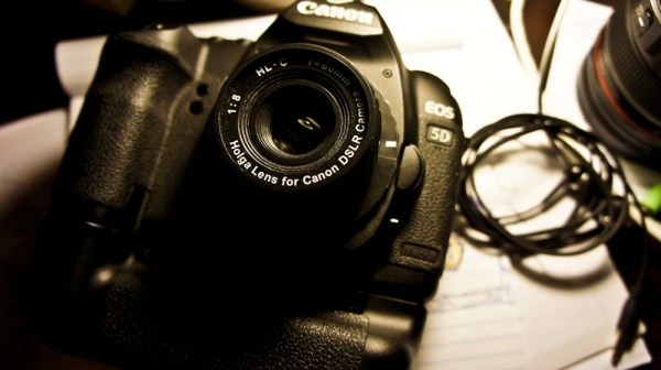 Image: Holga Lens HL-C with my Canon 5DmkII and Grip