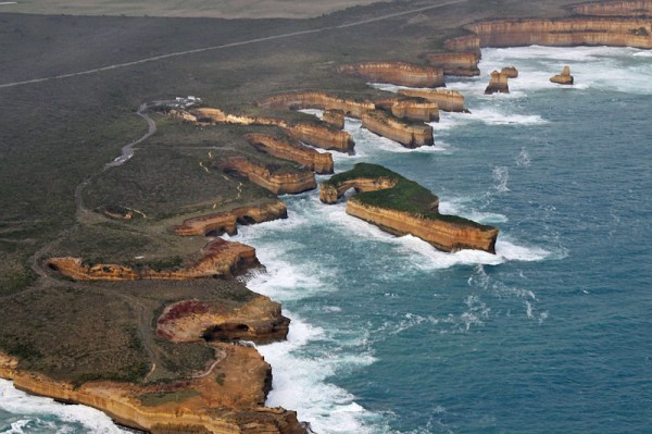 Image: Great Ocean Road and Shipwreck Coast from the air