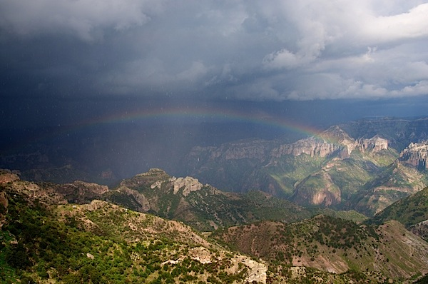 2 Rainbow and Canyon Landscape - Copper Canyon, Mexico - Copyright 2011 Ralph Velasco.jpg