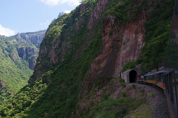 4 Train Going Through Tunnel - Copper Canyon, Mexico - Copyright 2011 Ralph Velasco.jpg