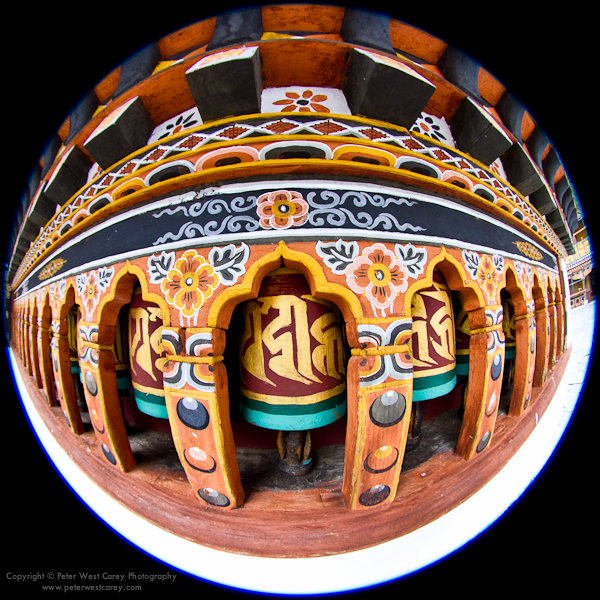 Image: Prayer Wheels, Paro Dzong, Bhutan