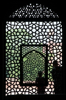 3. Through the Screen at Humayun's Tomb - Delhi, India - Copyright 2011 Ralph Velasco