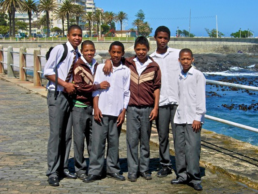 School boys in Capetown