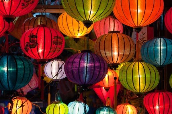 Silk lanterns