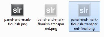Customizing Panel End Marks in Lightroom 4 (or LR3)