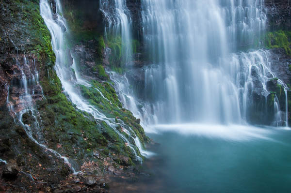 heavy falls with blue water