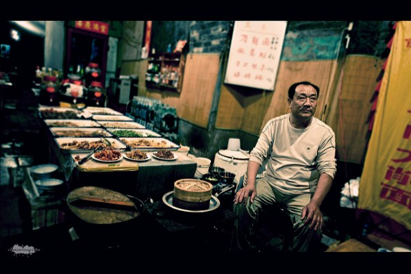 Open air restaurant in Pingyao