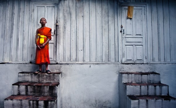 Image: Young monk, Laos :: 35 mm, Fstop 3.2, Shutter – 1\\80