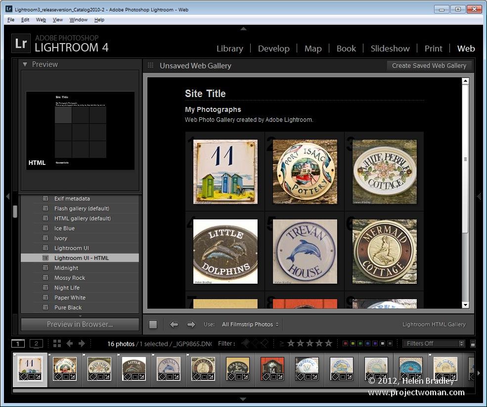 Creating web galleries in lightroom classic cc.