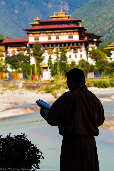 Image: Punakha Dzong and guide, Bhutan