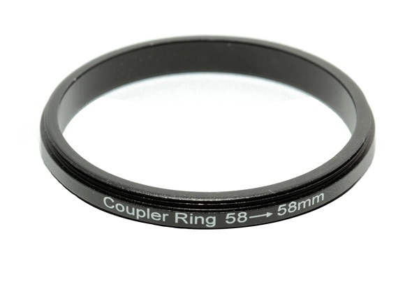 macro coupler ring for twin lens photography